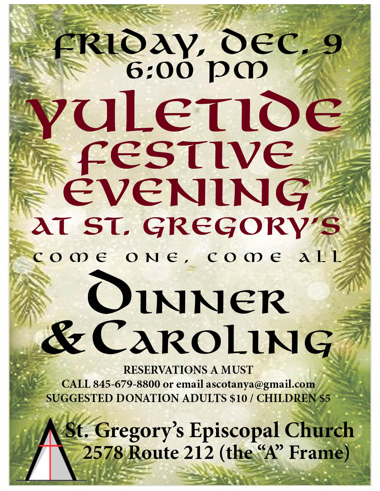 Yuletide festive event in Woodstock December 9