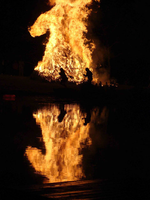 Bonfire in Bovina: Photo by Alison Cherry.