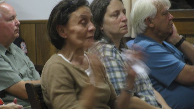 Elizabeth Winograd, Saving Our Shandaken, speaking at Sept 12, 2011 Town Board meeting: Photo by Rusty Mae Moore