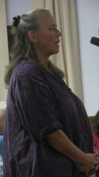 Tamara Cooper, Dirctor of Family of Woodstock, speaking at Shandaken Town Board meeting September 12, 2011: Photo by Rusty Mae Moore