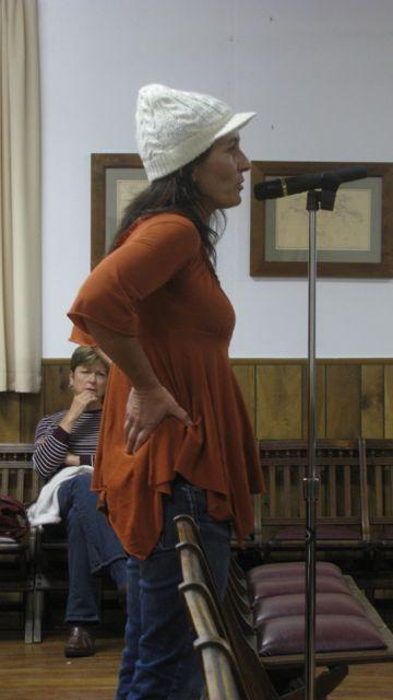 Wendt expresses frustration with the town at the Shandaken Town Board Meeting on Wednesday, November 9.