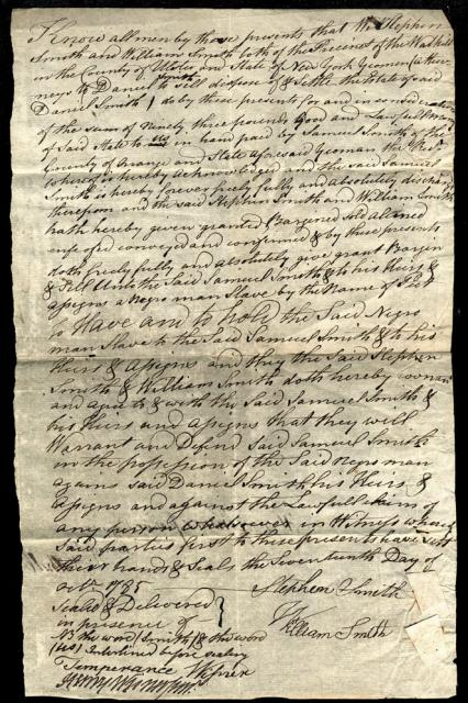 Image a bill of sale for a slave named peet dated october 17 1785