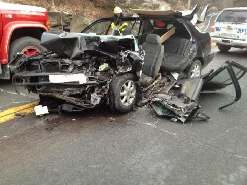 Head-on collision injures two and closes Route 212 | Watershed Post