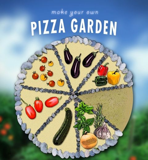 gardening provides an excellent opportunity to bond with your children away from electronic devices to experience fresh air sunshine and exercise outdoors - Pizza Garden