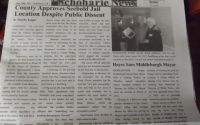 The front page of an issue of The Schoharie News